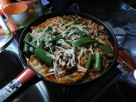 キムチ鍋を作っている人を発見!