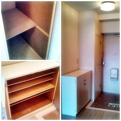 玄関収納が2箇所あるから、用途に合わせて活用できる