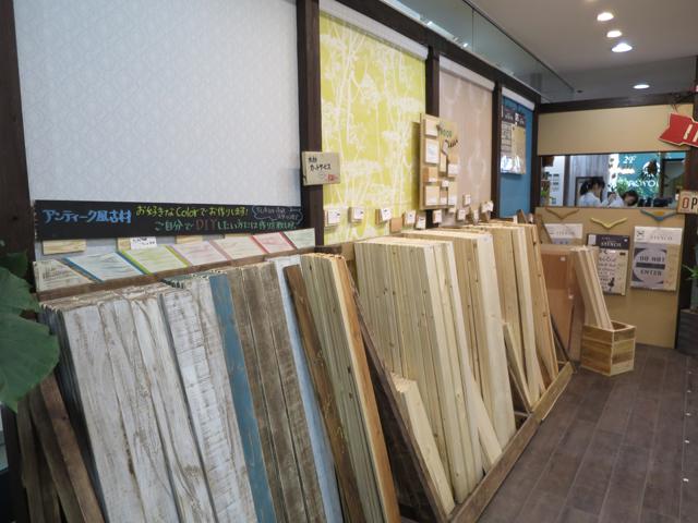 ホームセンターでは2メートル近くで販売されている木材も「tukuriba」では小さめにカット