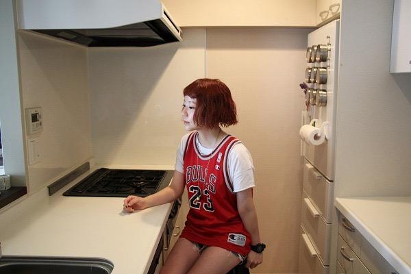 今まで住んだ部屋で一番広いキッチンだそうだ
