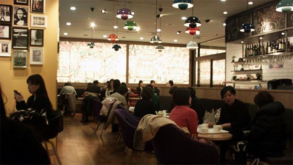 東京スクエアガーデン内の「デンマーク・ザ・ ロイヤルカフェテラス」