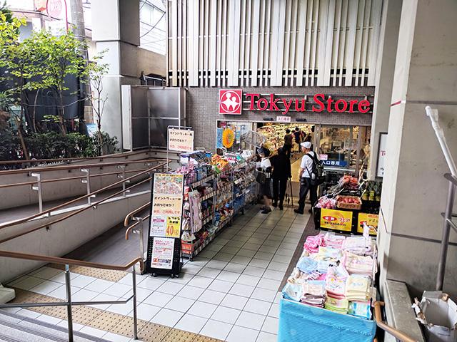 学芸大学駅直結の東急ストア