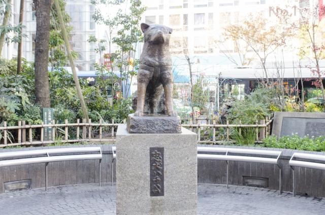 渋谷駅前の名所・忠犬ハチ公像