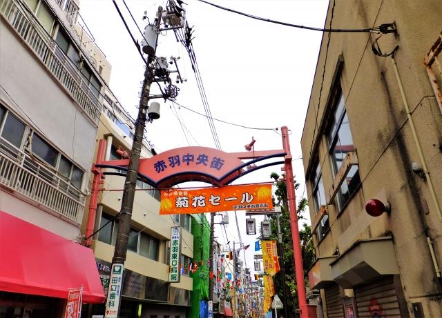 赤羽駅の商店街