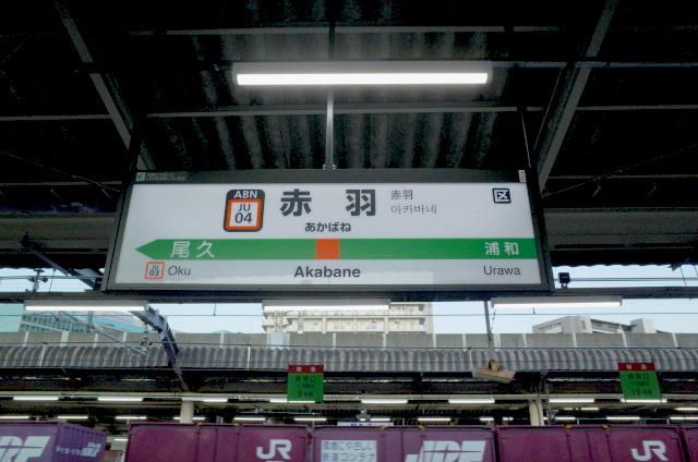赤羽駅ホーム