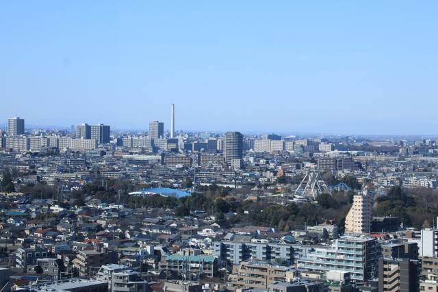 練馬区役所展望台からの眺め