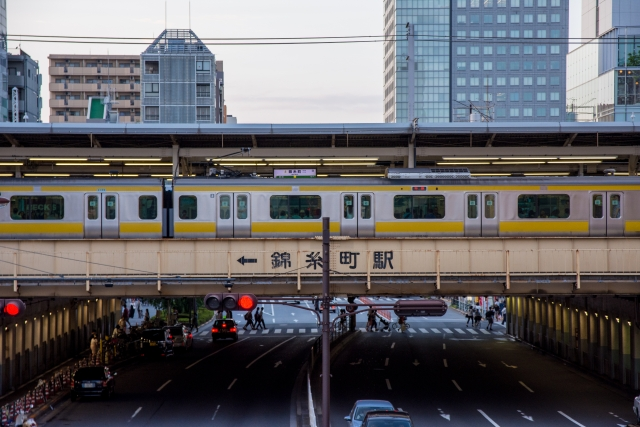 錦糸町駅と総武線