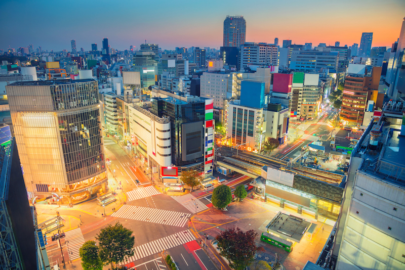 夜の渋谷区周辺