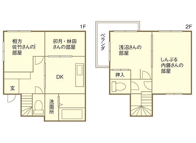 1~2階の間取図