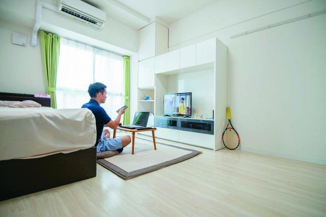 プライベートの時間も充実させたいと考え、居室は8畳以上、上層階、築浅など、条件にはかなりこだわったという