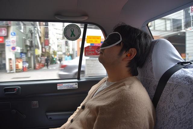 タクシーで知らないところに連れて行かれる
