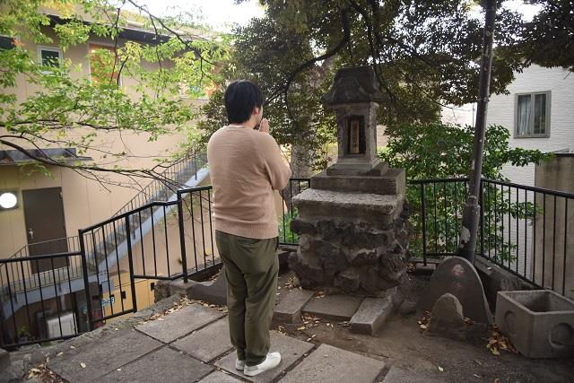 十条富士塚にお参り