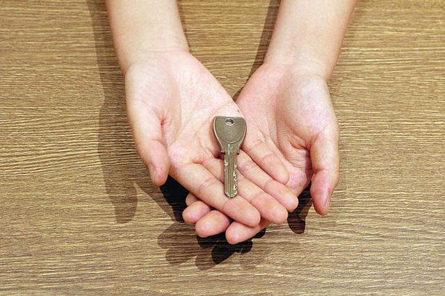 契約したら合鍵を渡す