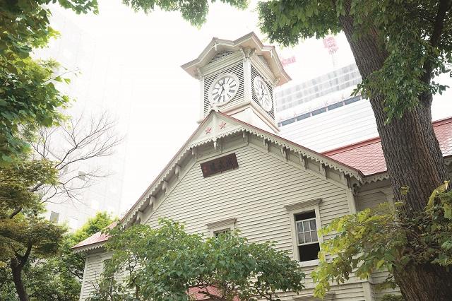 観光名所でもあり札幌の街のシンボルのひとつ、時計台