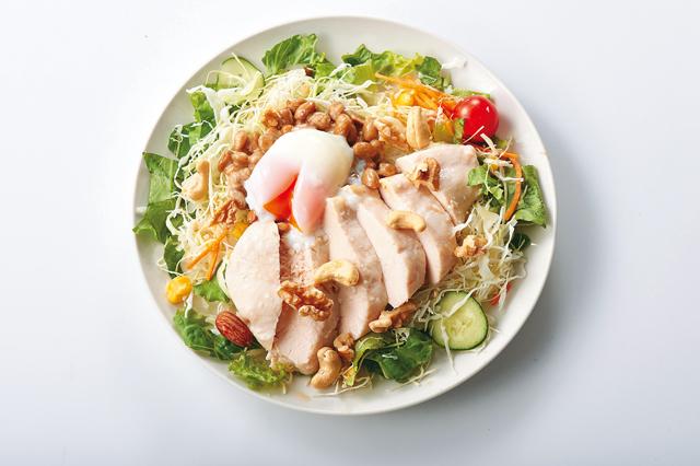 アスリート系納豆チキンサラダ