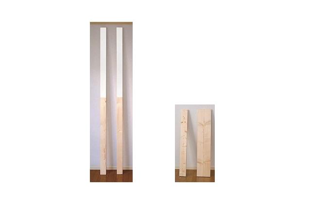 「ツーバイ」「ワンバイ」という規格サイズの木材。ホームセンターで扱っている