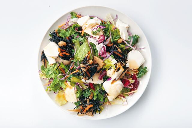 豆腐とひじきのサラダ