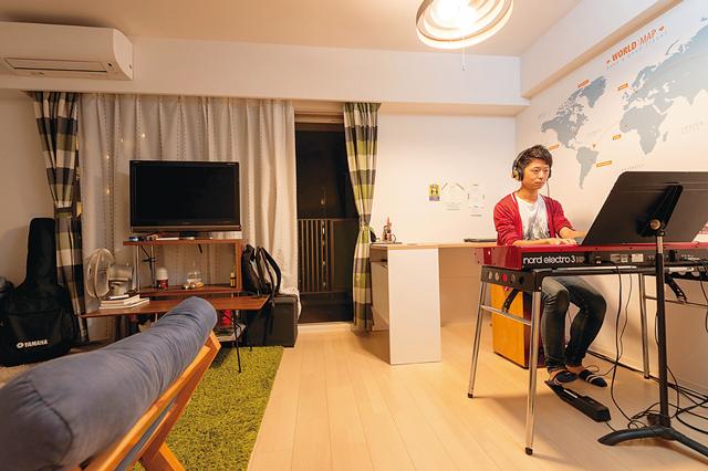 OTOWA神戸元町の一室。ウォークインクローゼットなど充実した収納を備えた約30㎡の1Kタイプ