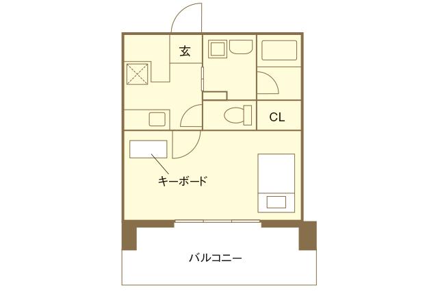 音楽スタジオ付き物件「OTOWA神戸元町」の一部屋の間取図