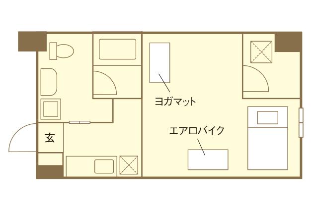 スポーツジム付き賃貸物件「クオーツマンション」の一部屋の間取図