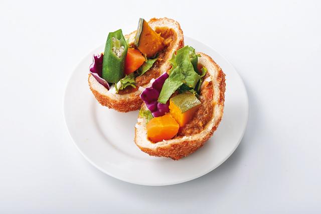 サラダカレーパン