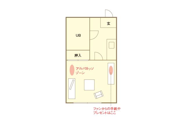 MAPLEZ 矢野美優の部屋の間取図