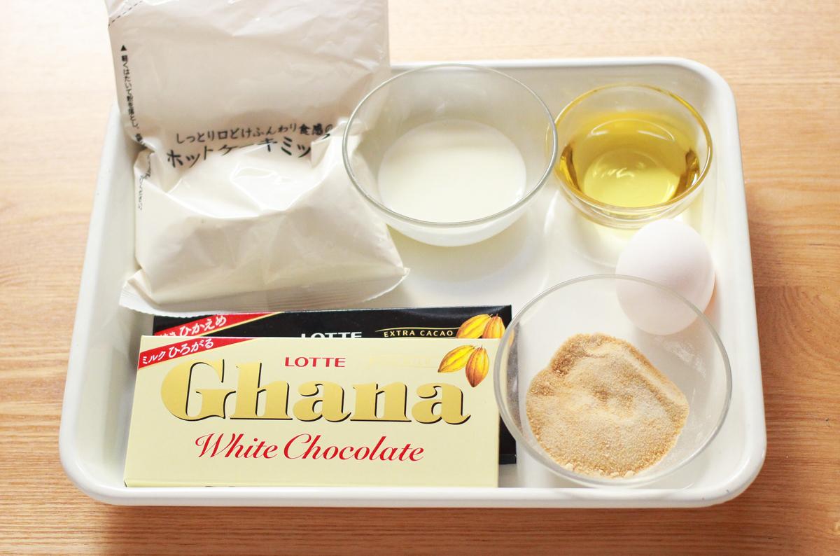 材料はこちら ダブルチョコレートパウンドケーキ