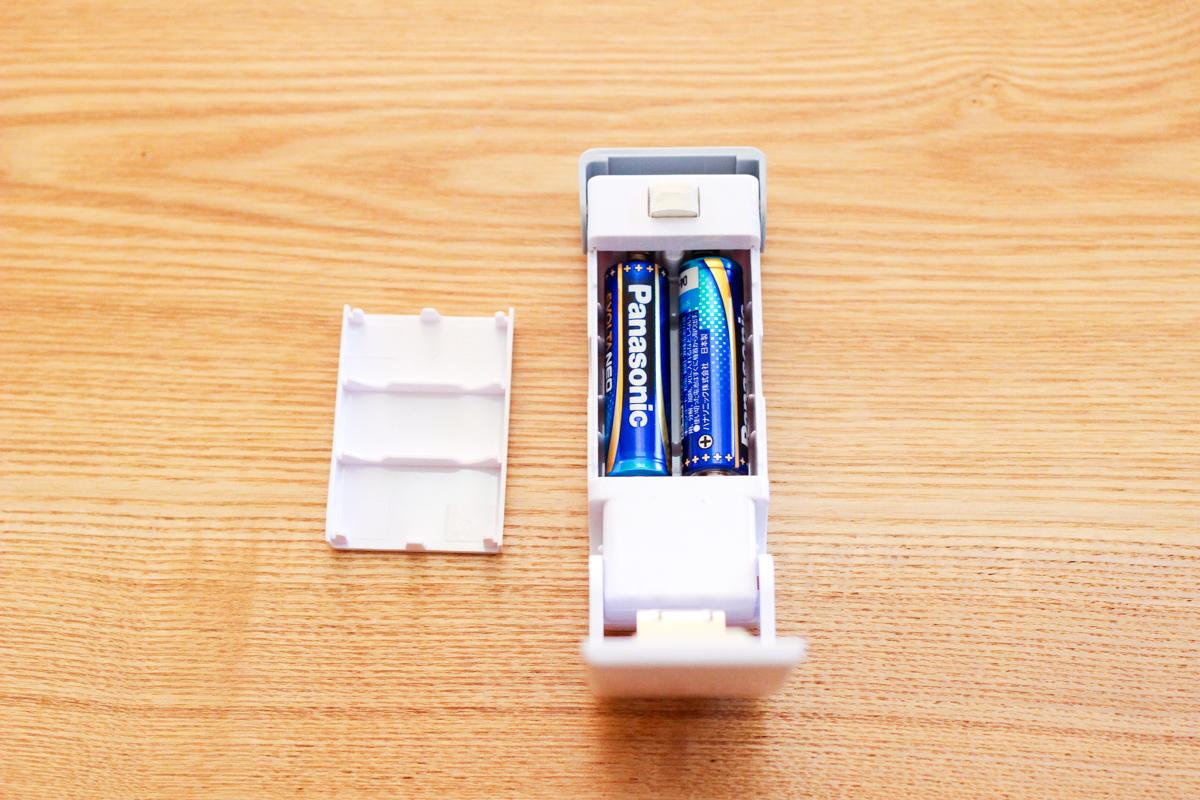 単3乾電池(別売り)をセット 簡単密封シーラー|セリア