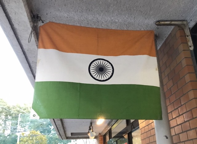 西葛西ではインドの国旗をよく見かける