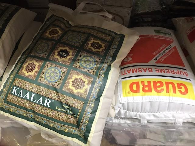 インディカ米の袋のフォトジェニックなこと! 使用後はバッグとしてリサイクルできる|スワガット インディアン バザール