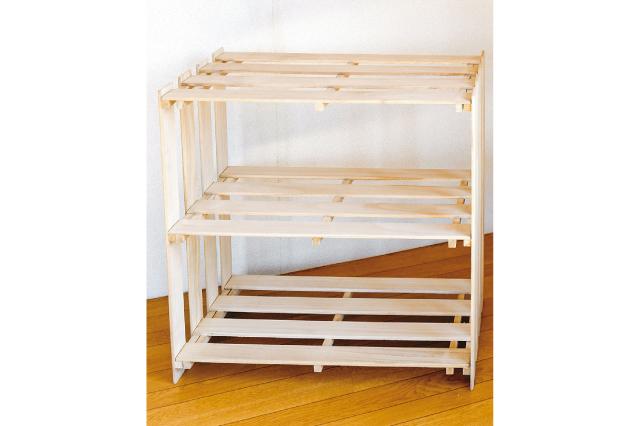 木工用ボンドとすのこで作る即席棚でラクラク収納