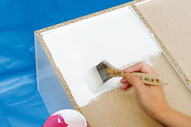 裏面が見えない場所の置く場合、塗装はしなくてもよい|キッチンカウンター