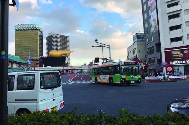 東京、池袋、上野、日暮里、錦糸町など各方面行きの都バスが充実している浅草