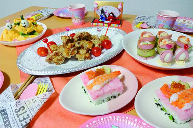華やかなパーティー料理やアイテムを用意して、ひな祭りを楽しもう|100均グッズでひな祭り