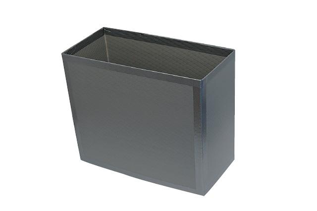プラスチック段ボールなら切り込みを入れるだけでゴミ箱に!