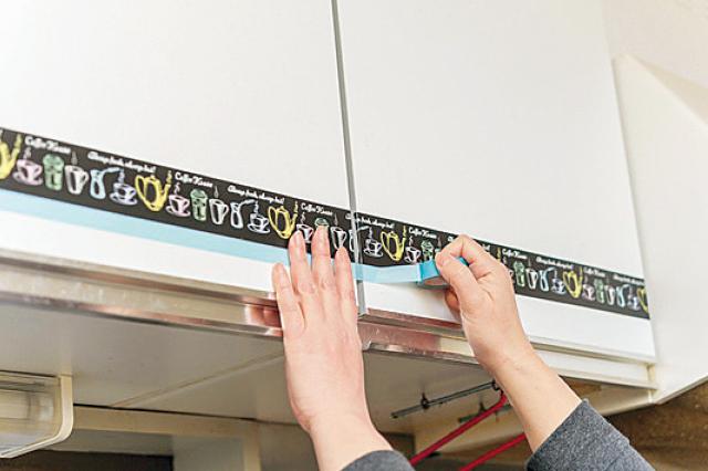 幅の細いマスキングテープを組み合わせてオシャレにアレンジ|【賃貸DIY】安くて簡単!キッチンを便利にかわいくするプチアイデア3選