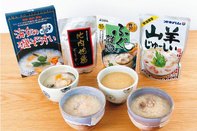 秋田県、岩手県、山口県、沖縄県の4つの雑炊を食べ比べてみた!|お取り寄せグルメレビュー