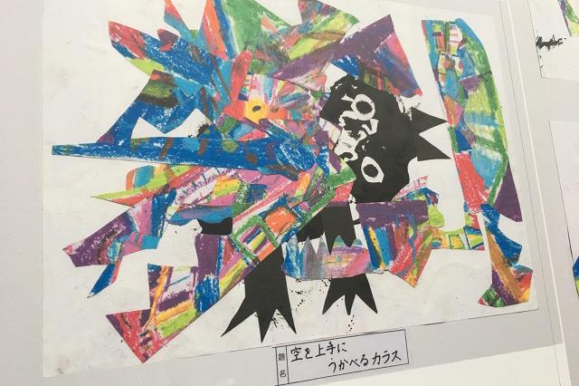 作品名「空を上手にうかべるカラス」。哲学めいたタイトルに、底知れぬ才能を感じる|東京メトロ直通運転開始で便利になる街「北綾瀬」「方南町」をサキドリ取材してきた