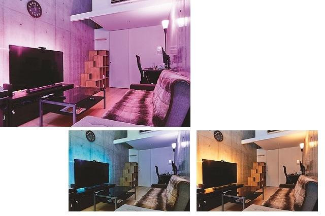 照明の色が異なるだけで部屋の雰囲気が変化!|【インテリアコーディネート術】ロフト付き1Kを居心地のよい空間に!ゲームディレクターの部屋づくりポイント紹介