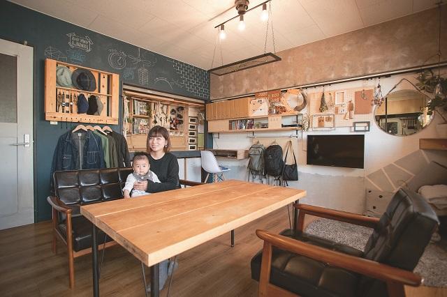 古い物件もDIYでこんなにオシャレな空間に! 家族が過ごしやすい部屋作りを行っているEHAMIさんにコーディネート術を学ぼう|【インテリアコーディネート術】古い賃貸物件をDIY! 家族で楽しく暮らせる1LDKの作り方