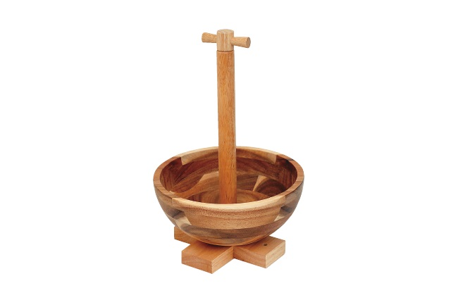 完成!|ニトリの木製ボウルでお菓子&カップ入れを作ろう!