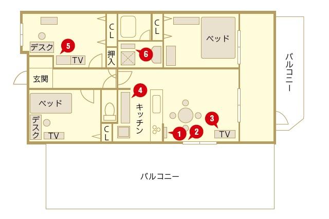 ファミリーで住みやすい広々とした間取りの3LDK|【インテリアコーディネート術】整理収納アドバイザーのモノトーン&シンプルな部屋作り