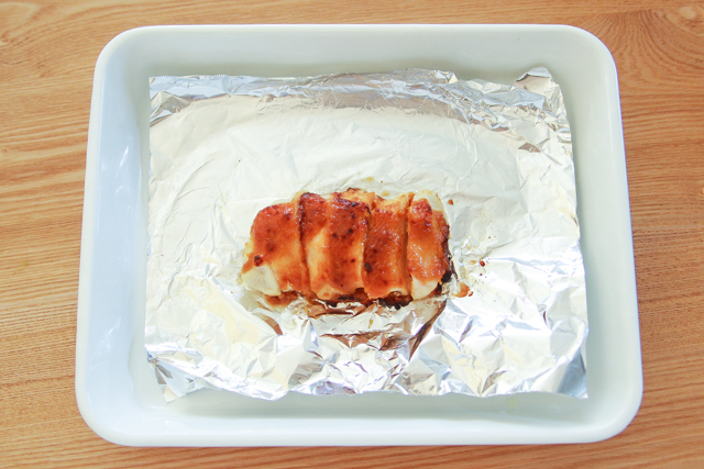 こんがり焼きあがった!|【コンビニ飯レシピ】10分でできちゃう!ラク早お弁当のおかずレシピ2選
