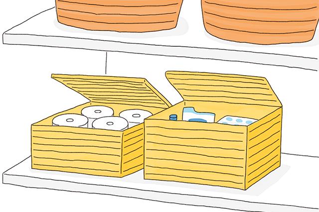 掃除道具や消臭スプレー、トイレットペーパーの剥き出しはNG。しっかり収納を!|中国命理学研究家・林秀靜さんに聞いた、風水的・運気の上がるトイレの作り方