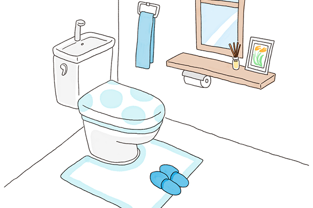 便座カバーやマット、タオルなどは明るい色のものにして、トイレ全体を明るい雰囲気にしよう|中国命理学研究家・林秀靜さんに聞いた、風水的・運気の上がるトイレの作り方