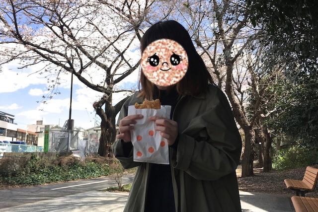 続きましてはハムカツを実食! 縁赤薄切りハム2枚にチーズが入っているタイプ さんぽみちのハムカツ 〝日本一大きい丸ポスト〟のある街・小平はノスタルジック&SNS映えする風景の宝庫だった