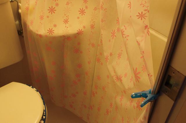 カーテンは極力広げる。洗濯バサミを使うとよりよい!|ユニットバスのシャワーカーテンのカビ対策!毎日のお手入れと掃除方法を家事・収納アドバイザーの本多弘美先生と実践