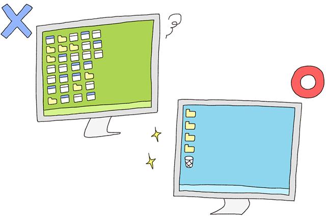 デスクトップが散らかっているのは運気を下げるもと。すぐに整理しよう|風水で仕事運アップの秘訣は机にあり!?中国命理学研究家林秀靜さんに聞いた運気を上げるコツ