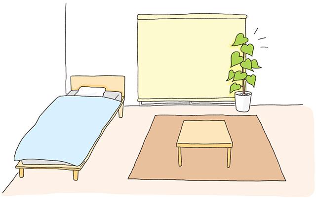 部屋に緑を足して気持ちをリフレッシュ。風水的には運気もアップするので一石二鳥!|いざ開運! 運気を良くする模様替えの方法を中国命理学研究家林秀靜さんに聞いてきた
