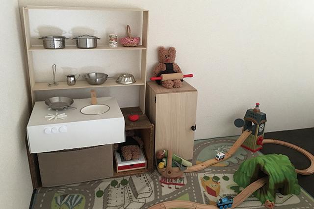 ロフトはお子さんのままごとセットや電車のおもちゃを置くスペースに |一戸建てってどうなの?転勤ファミリーの暮らしぶりと戸建て賃貸のメリットを聞いた